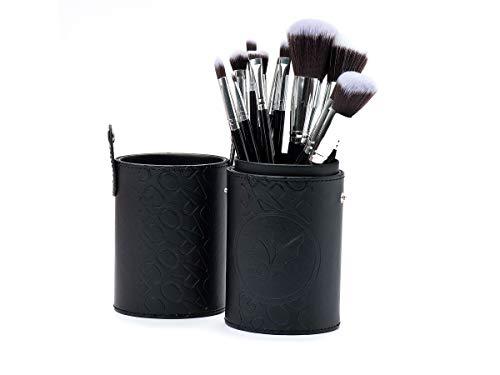 Estojo de pincéis para maquiagem com 12 unidades