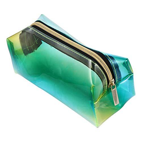 KESYOO Bolsa de Maquiagem Holográfica Transparência Transparente Bolsa de Cosméticos Bolsa de Maquiagem Iridescente Organizador de Produtos de Higiene Pessoal Estojo de Lápis Caixa de